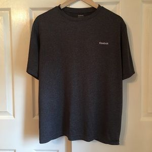 Reebok Mens Quick Dry Tee Shirt Gray Medium
